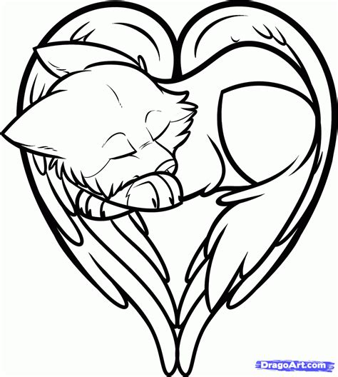 how to draw a heart shaped wolf wolf heart step by step