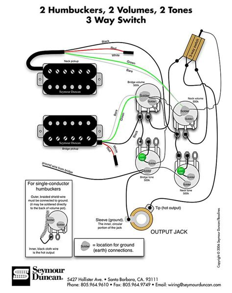wiring diagram for 2 humbuckers 2 tone 2 volume 3 way switch i e traditional lp set up find