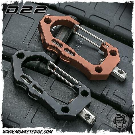 d22 carabiner monkey edge d22 large carabiner w glow aluminum