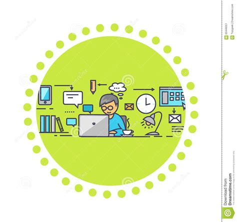 design management work icon flat style design work on project stock vector