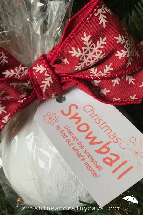 Christmas Snowball   A Creative Way to Give Money!   Sunshine and Rainy Days