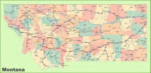 Montana Maps by Road Map Of Montana With Cities