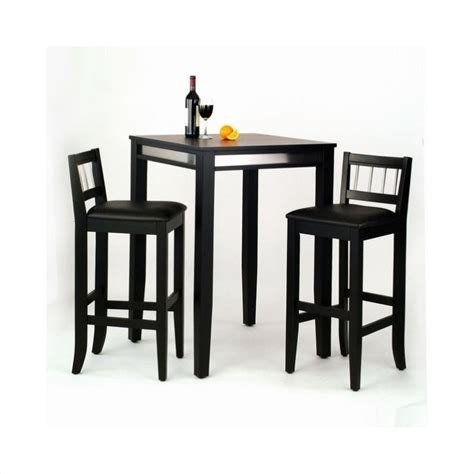 Pub Table And Chairs Set by 3 Pub Set In Black 5123 358
