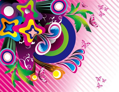 colorful graphic wallpaper free wonderful colorful background vector graphic set