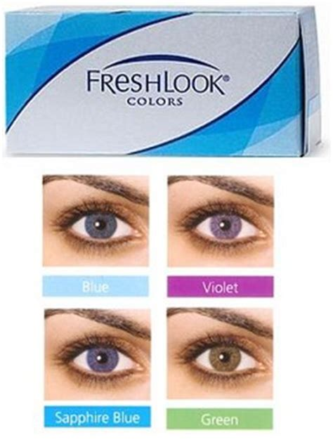 plano colored contacts freshlook colors plano 55 00