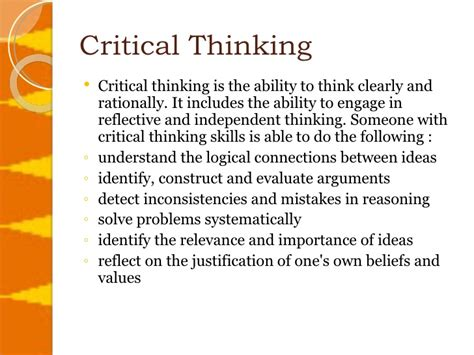What Is A Critical Thinking Essay by Critical Thinking Is Considered