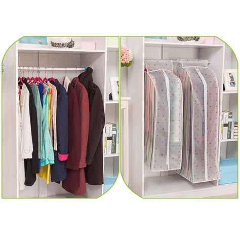 hanging clothes storage hanging garment suit coat clothes dust cover protector