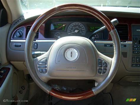 lincoln town car steering wheel 2003 lincoln town car cartier espresso medium light