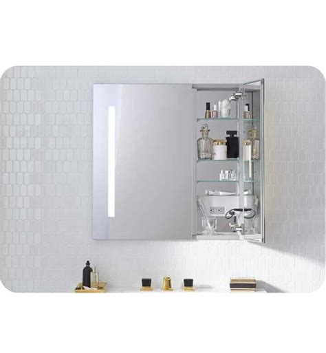 medicine cabinet with lights built in robern ac3030d4p2l aio 30 quot wide dual door medicine cabinet
