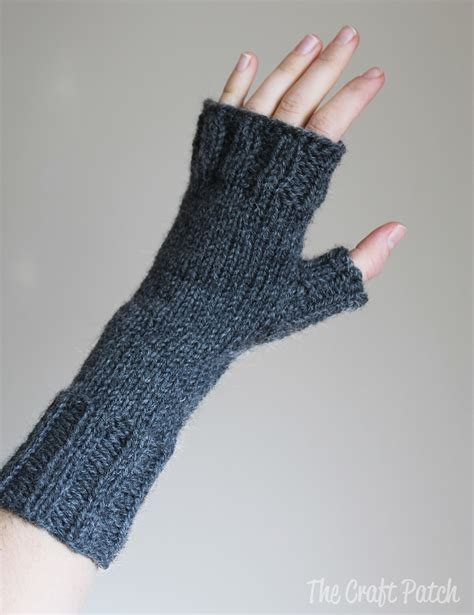 The Craft Patch Knitted Fingerless Gloves