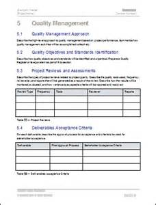 quality management project plan templates how to create