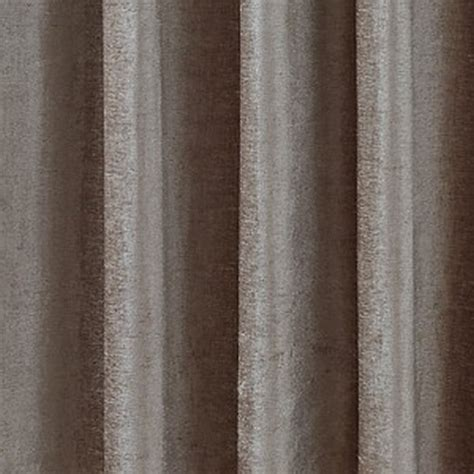 Cafe Style Kitchen Curtains Luxury Chenille Ring Top Curtains Pair Finished In Taupe