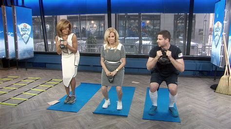 kathie lee gifford exercise video klg hoda in dresses work out like olympians today