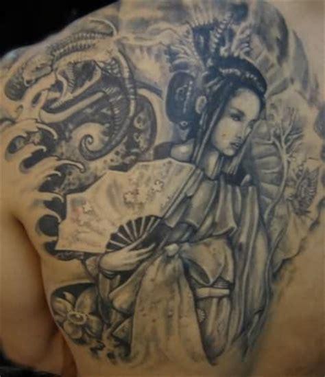 geisha girl tattoo on back girl tattoos and designs page 295