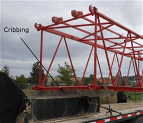 Crane Cribbing by Crane Transport A Project Shipping A Large Manitowoc Crane