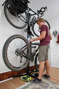 indoor bicycle storage mountain bike action magazine how to indoor bike storage tips and solutions