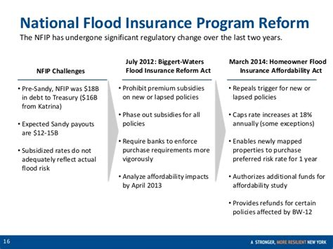 National Insurance Letter N Executive Summary Flood Insurance In Nyc