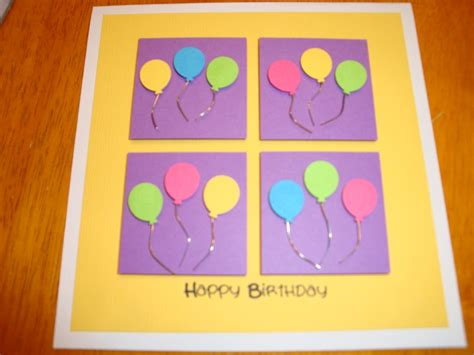 Easy Handmade Cards For Birthday - easy handmade birthday card things to make one