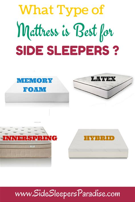 Compare Mattress Types by What Type Of Mattress Is Best For Side Sleepers Side