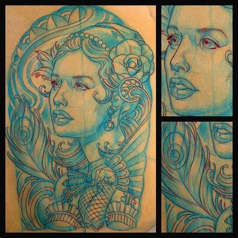 art deco tattoo san diego customtattoo artist terry ribera makes an
