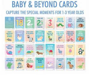 baby and toddler milestone cards by koko blossom