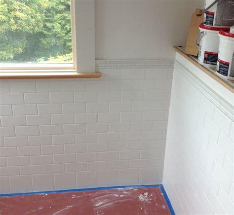 Tile Wainscoting Bathroom Reno Week 8 187 Light Designs