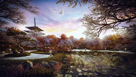 House Architectural by Making Of Zen Garden 3d Architectural Visualization