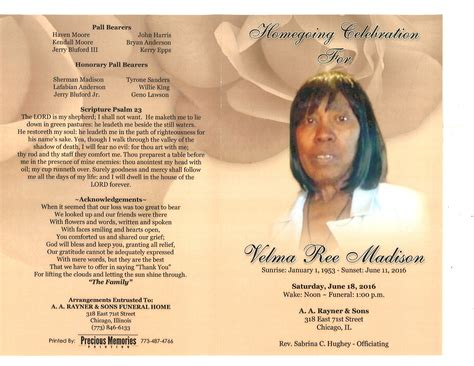 velma ree obituary aa rayner and sons funeral home