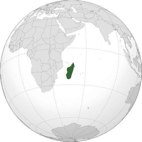 world map of madagascar location of the madagascar in the world map