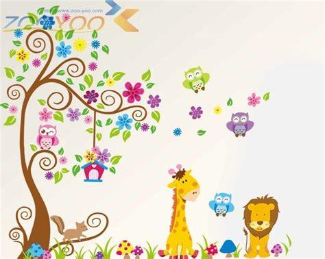 Xl Wandtattoo Kinderzimmer by Xl Wandtattoo Wandsticker Eule Baum Giraffe L 246 We Baum