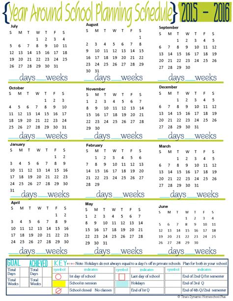 printable calendar 2016 malaysia school holiday free 2015 to 2016 year around school planning page
