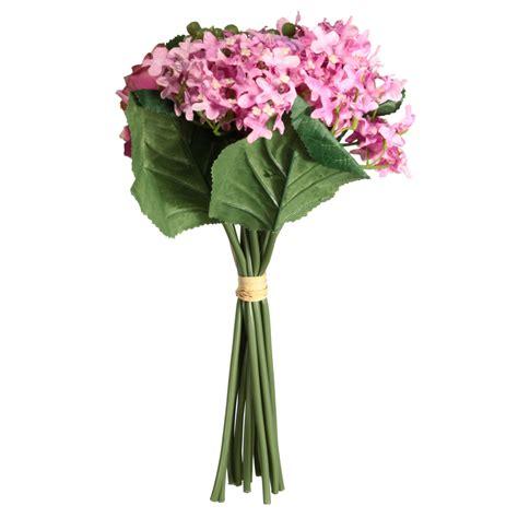 Hydrangea Silk Flower Bouquet 1 1 bouquet artificial silk flowers bridal hydrangea