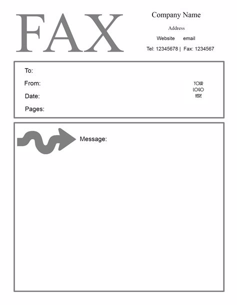 printable fax cover sheet template free fax cover letter template