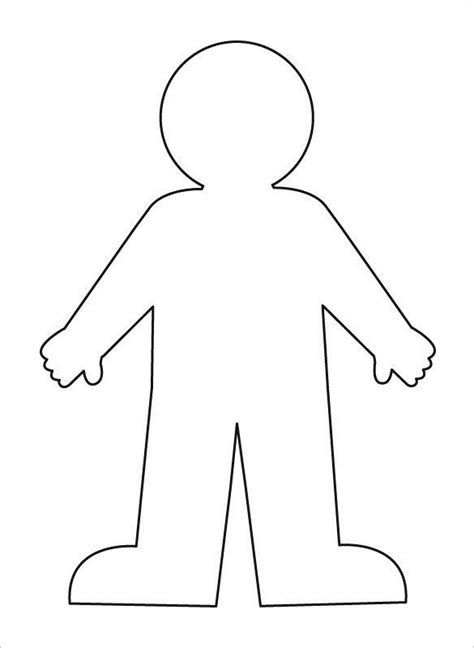 human figure template printable outline template 21 free word excel pdf format