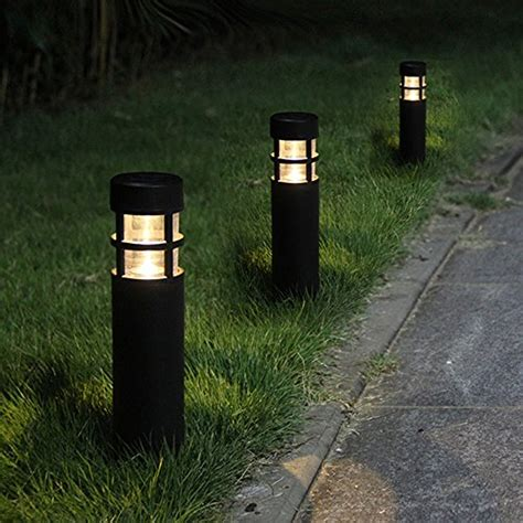 Solar Bollard Lights Outdoor Voona Solar Bollard Lights Outdoor 6 Pack Garden Led