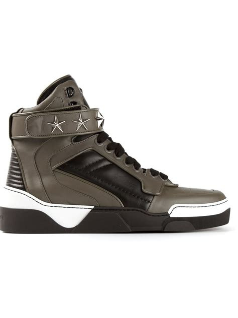 givenchy sneakers givenchy tyson hi top sneakers in black for lyst