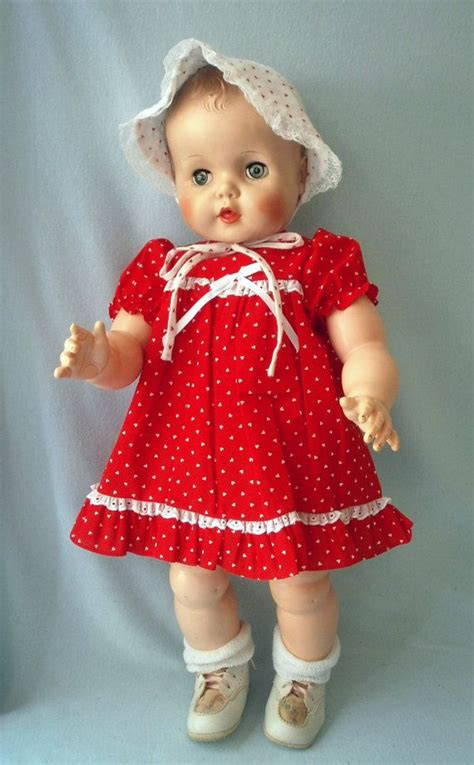 vintage baby carrie eegee vinyl baby doll  inches