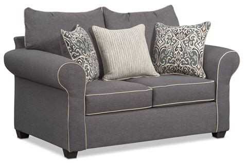 value city sofa and loveseat carla sofa loveseat and accent chair set gray value