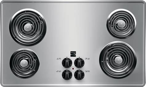 36 inch electric coil cooktop kenmore 41323 36 quot electric coil cooktop stainless steel