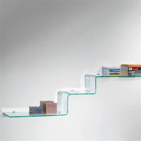 mensole design step mensole design in vetro curvato trasparente 100 cm