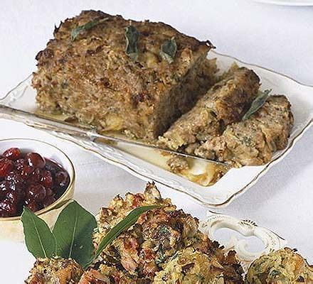sausage sage onion stuffing recipe bbc good food