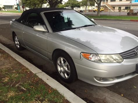 Toyota Camry 2002 For Sale 2002 Toyota Camry Solara Sale By Owner In Santa Ca