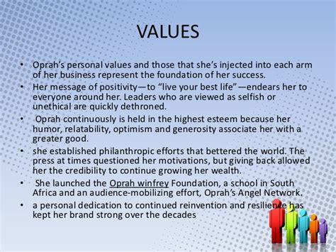 oprah winfrey values oprah winfrey