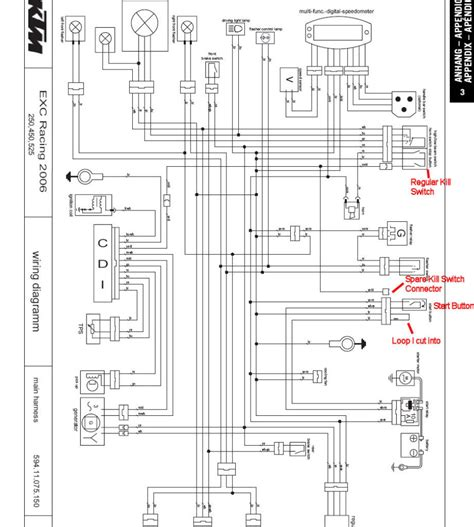 ktm 450 exc wiring diagram 2007 ktm 525 exc wiring diagram wiring diagram and schematic