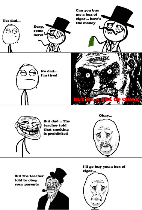 Troll Meme Comic - troll dad rage comic by albowtross91 on deviantart