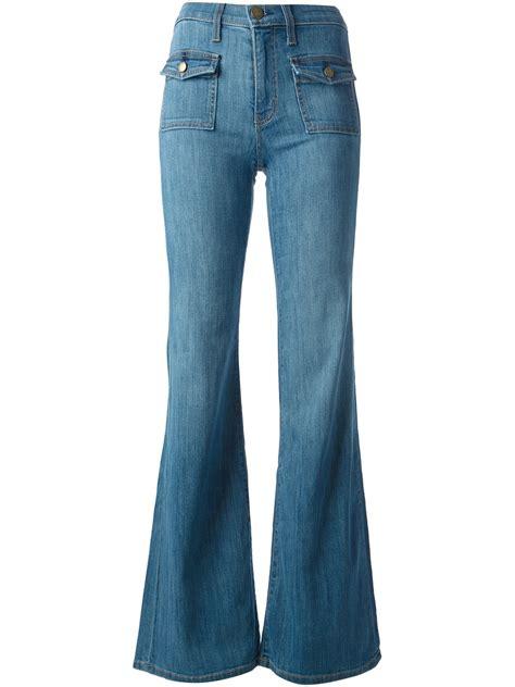 Highwaist Blue lyst current elliott high waist flared in blue