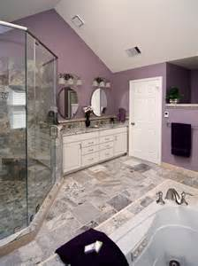 traditional gray and purple bathroom design ideas
