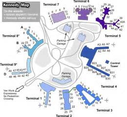 jfk airport layout map