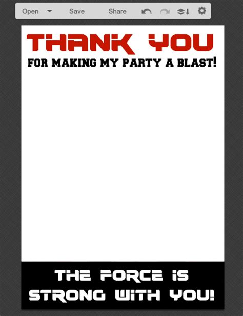 wars card template diy wars rebels thank you cards