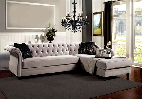 Grey vintage tufted sectional sofa far below retail